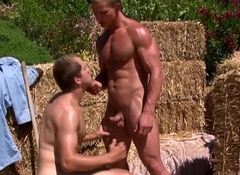 Vivid hunks outdoors sucking hunger Hawkshaw