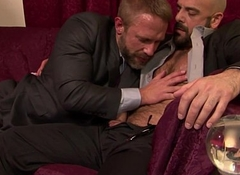 Classy hunks assfucking after dicksucking
