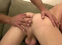 Daddy fucks and fingers youthful studs aggravation