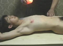 Naked Related Boy Got Hot Wax